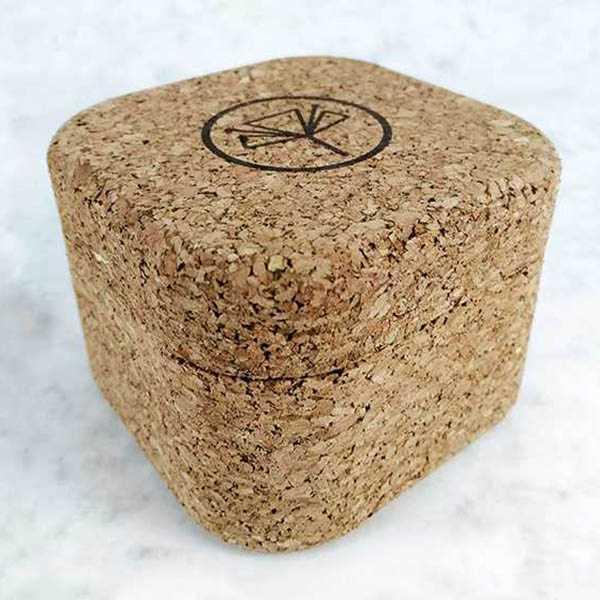 Caja para jabón de corcho