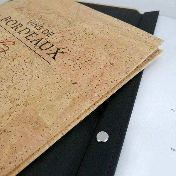 Carta de restaurante original en corcho