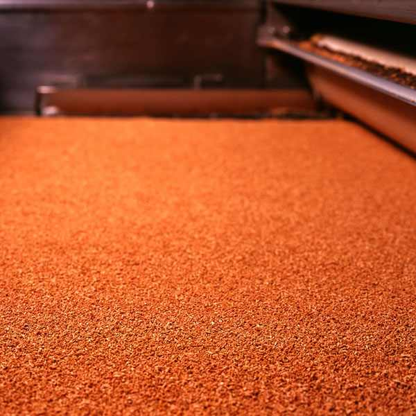 Corcho granulado fabricación