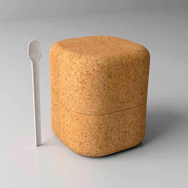 Envase protector temperatura corcho