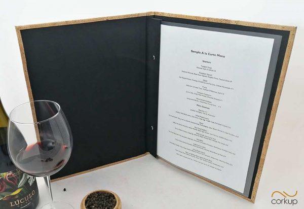 Carta de restaurante diseño