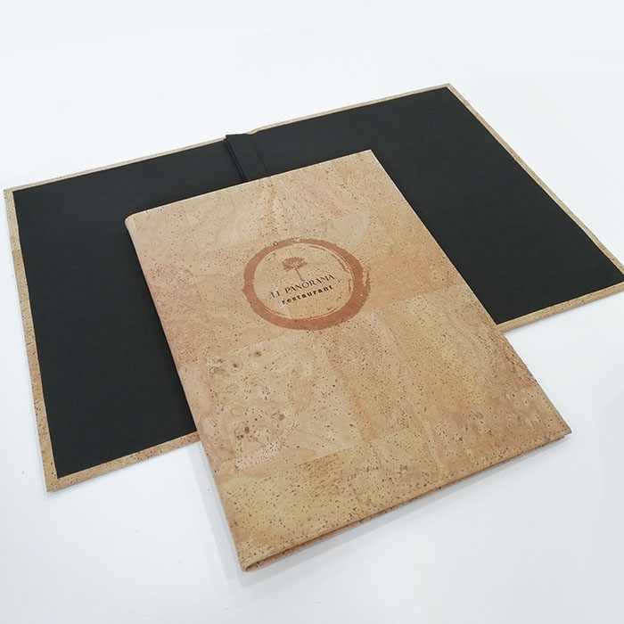 carta menu restaurante original en corcho